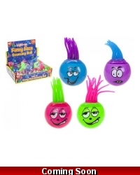 Image of 12 x Light Up Mohican Hair Funny Face Balls