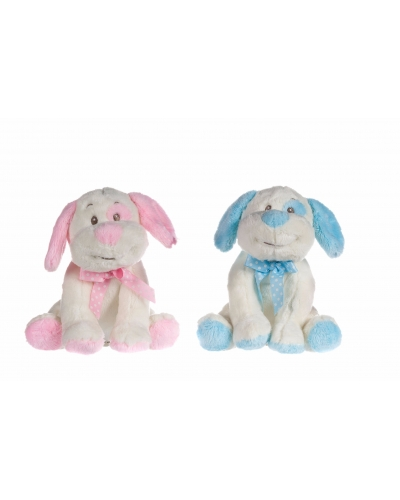 6 x Plush Pink/Blue Puppy Dogs 7""