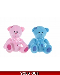 Image of 12 x Plush Pink/Blue Teddy Bears 6.5
