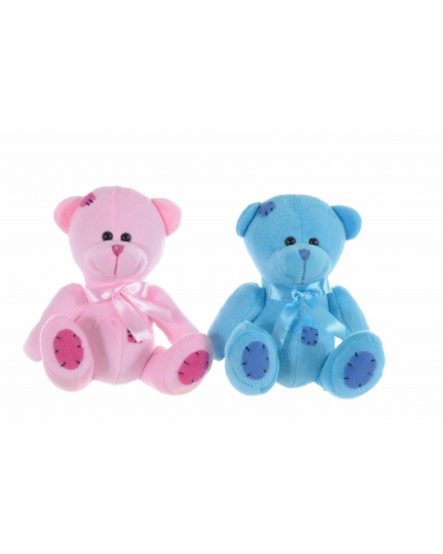 12 x Plush Pink/Blue Teddy Bears 6.5""