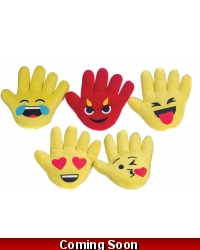Image of 12 x Plush Emoji Funny Face Hands