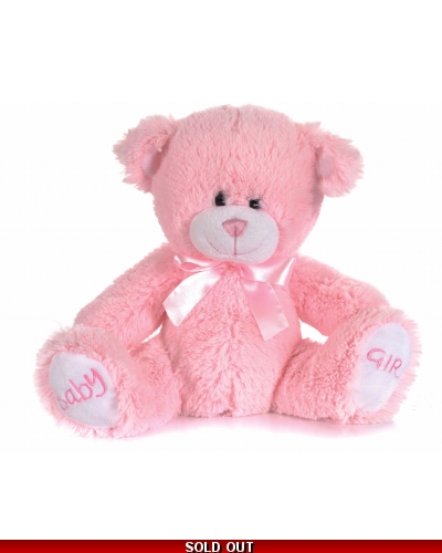 6 x Plush Luxury Baby Girl Pink Teddy Bears 8""