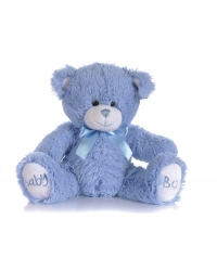 Image of 6 x Plush Luxury Baby Boy Blue Teddy Bears