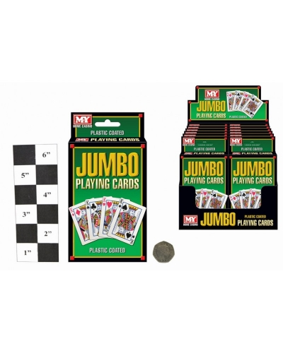 12 x Plastic Coated Jumbo Playing Cards