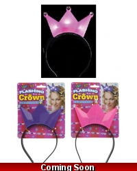Image of 12 x Light Up Flashing Princess Crowns