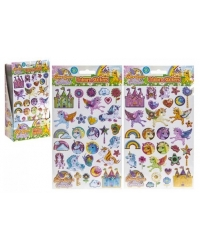 Image of 36 x Unicorn Vinyl Puffy Sticker Sheets