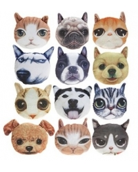 Image of 24 x Printed Cat & Dog Plush 13cm
