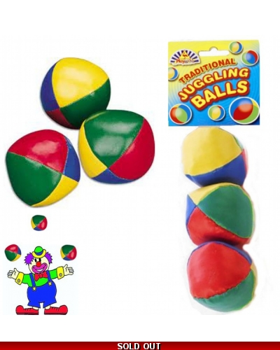 24 x Traditional Juggling Balls 3pk