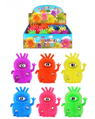 12 x Light Up Stretchy Puffer Monsters
