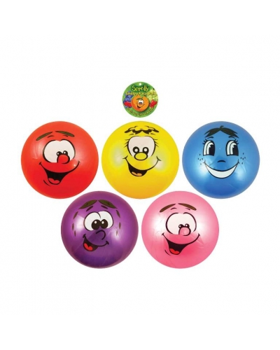 12 x Smelly Smiley Face Fruit Balls 25cm