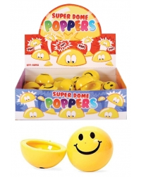 Image of 48 x Jumping Smiley Face Dome Poppers