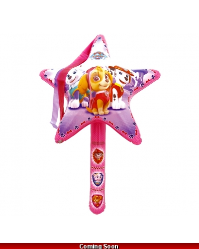 12 x Pink Paw Patrol Inflatable Star Wands