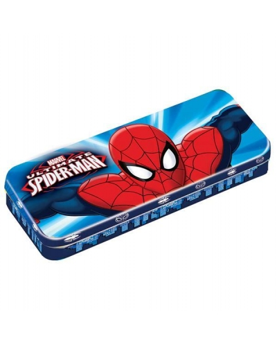 12 x Spider Man Tin Pencil Cases