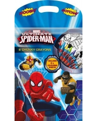 Image of 12 x Spider Man Chunky Crayon Sets