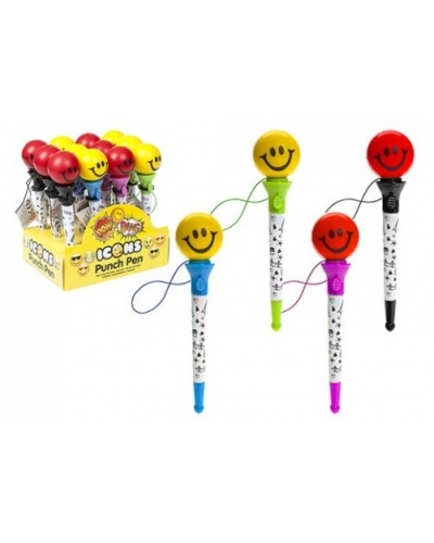 12 x Smiley Face Punch Pens