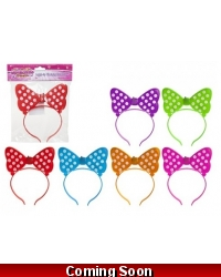 Image of 24 x Light Up Bow Headbands
