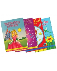 Image of 24 x Assorted Girls Sticker Activity Books