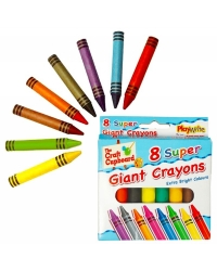 Image of 12 x Super Size Wax Crayons 8 pack