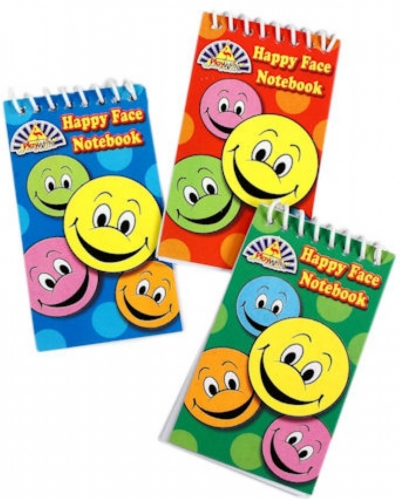 120 x Smiley Face Notebooks