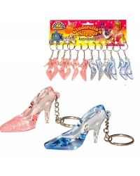 Image of 12 x Cinderella Slipper Glitter Keyrings