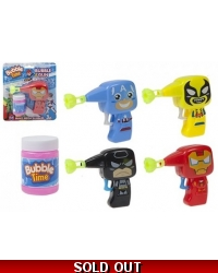 Image of 12 x Friction Super Hero Bubble Guns