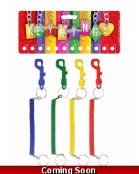 Image of 12 x Spiral Key Rings