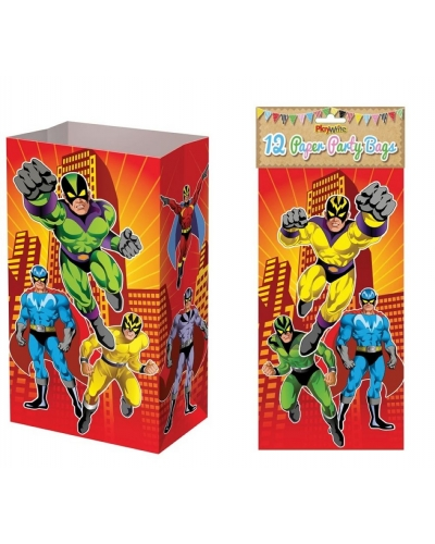 144 x Super Hero Paper Party Bags