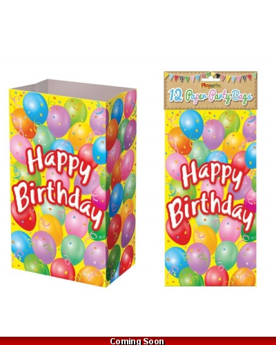 144 x Happy Birthday Paper Party Bags
