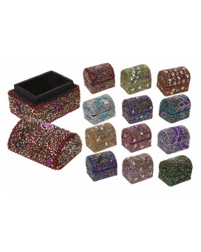 12 x Glitter & Diamond Secret Trinket Boxes
