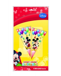 Image of 12 x Pk of 6 Mickey Mouse Sweet Cones
