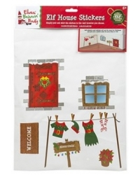 Image of 24 x Christmas Elf House Wall Stickers