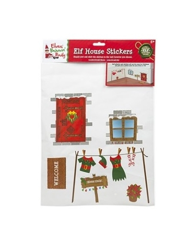 24 x Christmas Elf House Wall Stickers