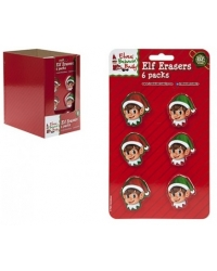 Image of 24 x Christmas Elf Erasers 6 pk