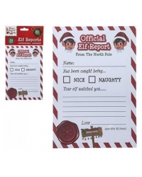 Image of 24 x Christmas Elf Report Cards 25pk