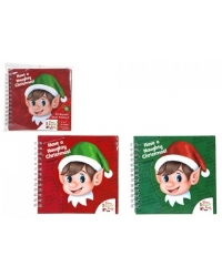 Image of 24 x Christmas Elf Spiral Notebooks