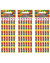 Image of 24 x Building Bricks Pencils 6pk