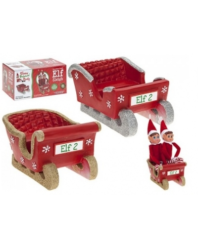 12 x Christmas Twin Elf Sleighs