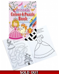 Image of 24 x Princess A6 Colour & Puzzle Books
