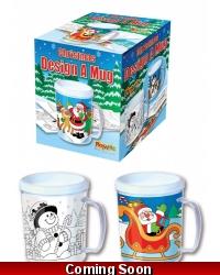 Image of 12 x Colour In Christmas Mugs