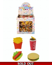 Image of 108 x Fast Food Erasers
