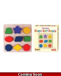 Image of Wrapped Grotto Toys - Wooden Shape Sorting Puzzle x 12