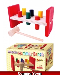 Image of Wrapped Grotto Toys - Wooden Hammer Bench x 6