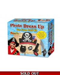 Image of Wrapped Grotto Toys - Foam Pirate Dress Up Craft Set x6