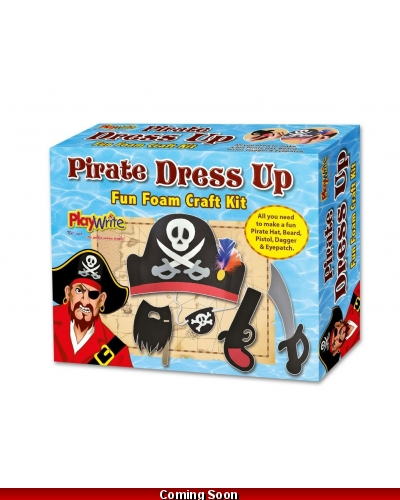 Wrapped Grotto Toys - Foam Pirate Dress Up Craft Set x6