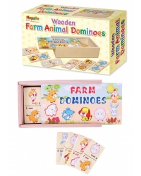 Image of Wrapped Grotto Toys - Wooden Farm Animal Dominoes x12