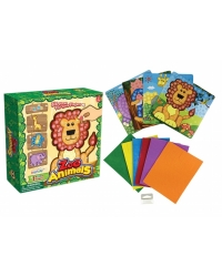 Image of Wrapped Grotto Toys - Jungle Animal Mosaic Art Sets x12