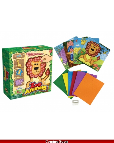 Wrapped Grotto Toys - Jungle Animal Mosaic Art Sets x12
