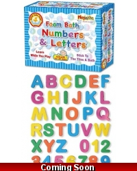 Image of Wrapped Grotto Toys - Foam Bath Numbers & Letters x6