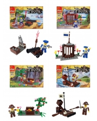 Image of Wrapped Grotto Toys - Pirate Building Brick Sets x12