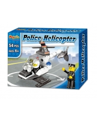 Image of Wrapped Grotto Toys - Police Helicopter Building Bricks x12
